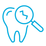 Dental procedure for chipped tooth icon